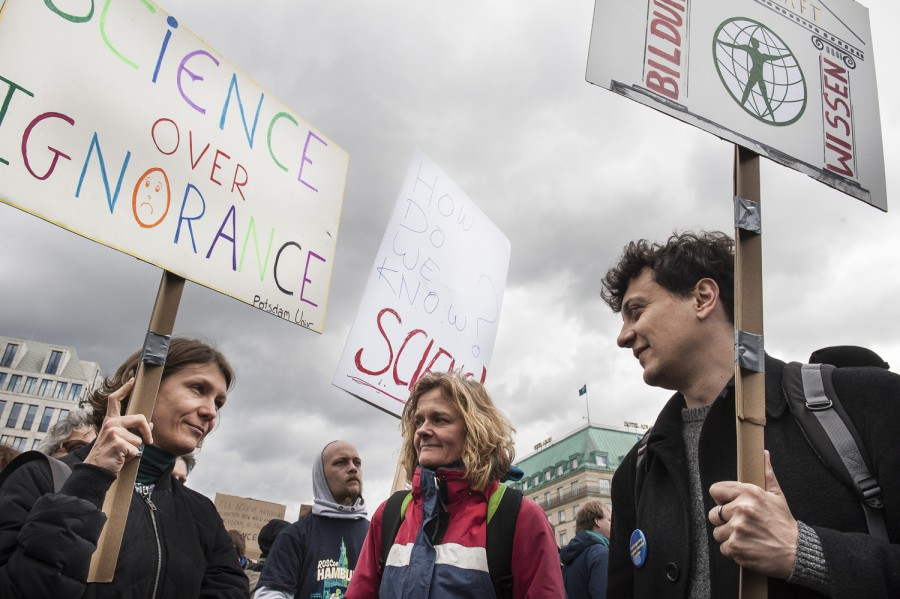 Foto vom March for Science in Berlin 2017